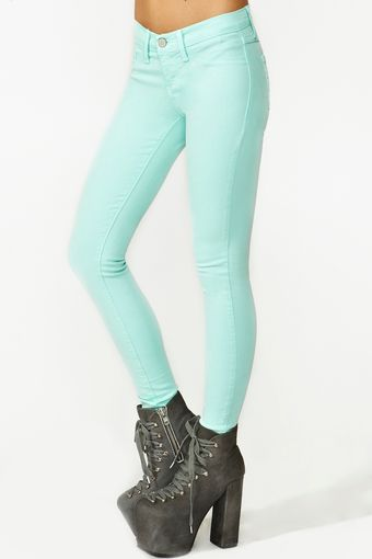 Nasty Gal Dream Skinny Jeans Mint - Lyst