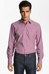 Paul Smith Check Print Dress Shirt - Lyst