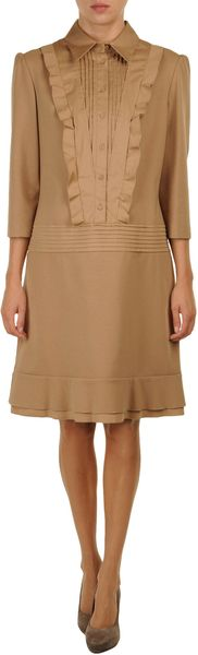 Philosophy Di Alberta Ferretti Short Dress in Brown - Lyst