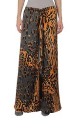 Roberto Cavalli Casual Trouser in Animal (orange) - Lyst