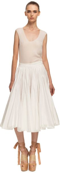 Vera Wang Ss Cotton Voile Dancing Skirt in White - Lyst