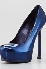 Yves Saint Laurent Tribtoo Metallic Platform Pump Twilight - Lyst