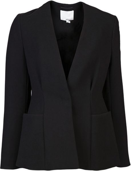 3.1 Phillip Lim Long Sleeve Blazer in Black - Lyst