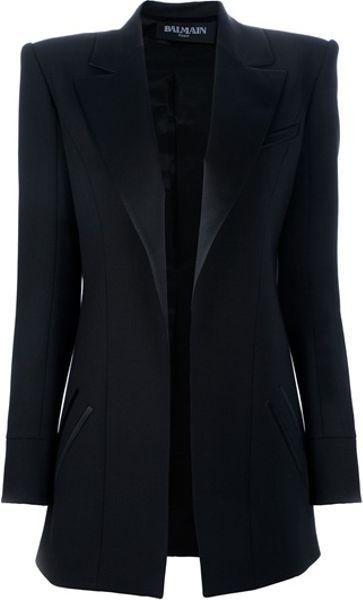 Balmain Oversize Boxy Blazer in Black