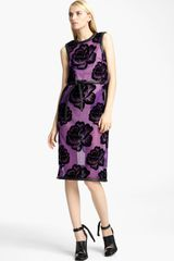 Christopher Kane Tie Belt Rose Tulle Dress - Lyst