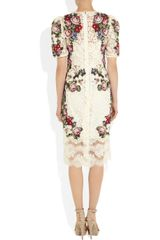 Dolce & Gabbana Tapestry and Lace Dress in Multicolor (white) - Lyst