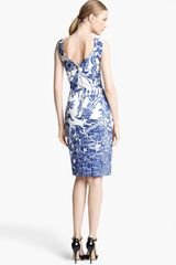 Emilio Pucci Print Dress in Blue (navy white) - Lyst