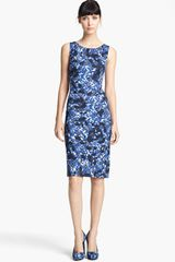 Erdem Swirl Print Jersey Dress - Lyst