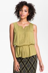 Halogen Pleated Blouse - Lyst