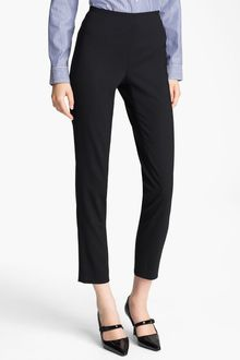 Jil Sander Navy Stretch Wool Ankle Pants - Lyst