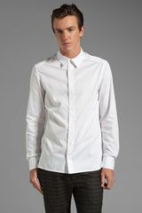 Richard Chai Arc Classic Button Down Shirt in White for Men - Lyst