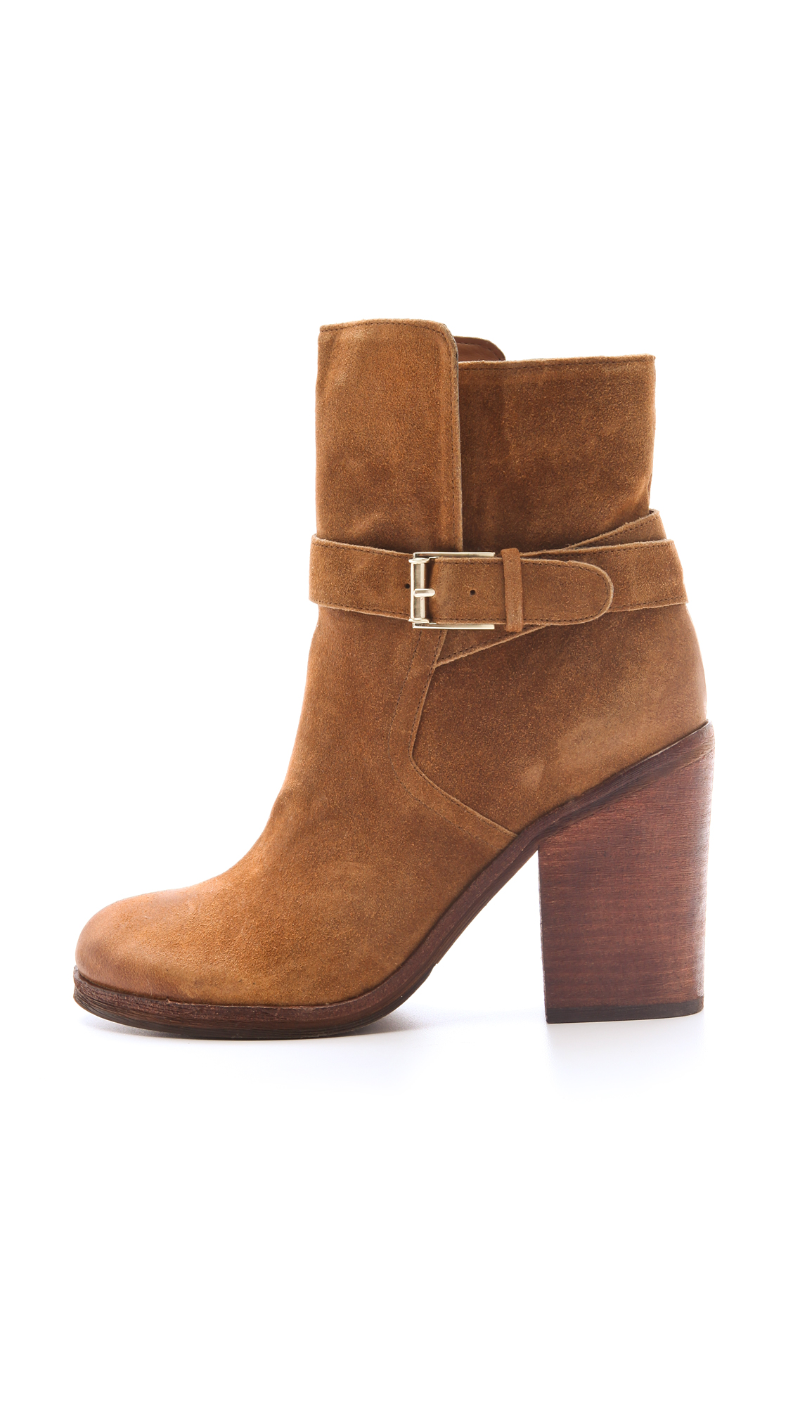 a666be3e1dc143 Lyst - Sam Edelman Perry Wrap Strap Booties in Brown