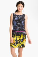 Suzi Chin For Maggy Boutique Print Silk Shift Dress - Lyst