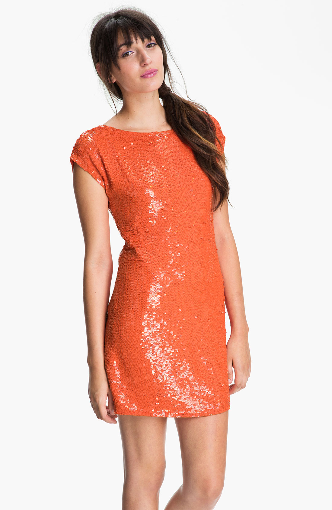 Trina turk Sequin Shift Dress in Orange | Lyst