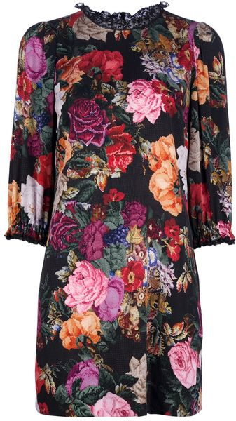Dolce & Gabbana Floral Dress - Lyst