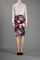 Dolce & Gabbana Floral Pencil Skirt in Floral - Lyst