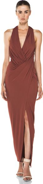 Haute Hippie Asymmetrical Draped Gown  - Lyst