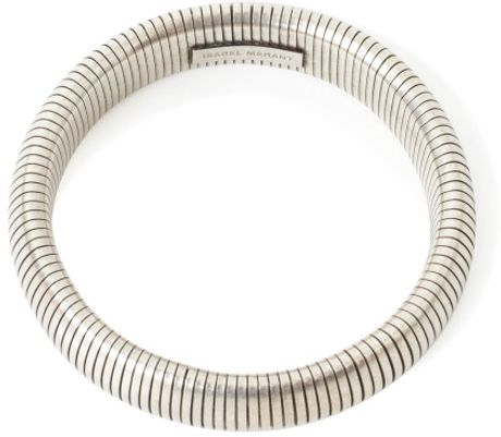 Isabel Marant  Silver Clarke Bangle in Silver - Lyst