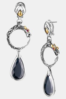 John Hardy Batu Naga Drop Earrings - Lyst