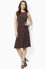 Lauren by Ralph Lauren Dress Sleeveless Flare Dress - Lyst