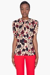 Marni Fitted Peach Printed Blouse - Lyst