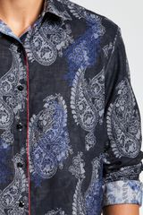 Robert Graham Tahoe Sport Shirt in Blue for Men - Lyst