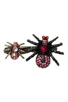 Betsey Johnson Creepy Critter Boost Spider Twofinger Stretch Ring - Lyst