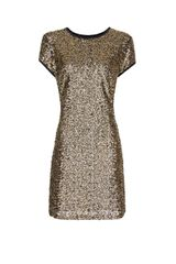 Mango Sequined Dress in Black - Lyst