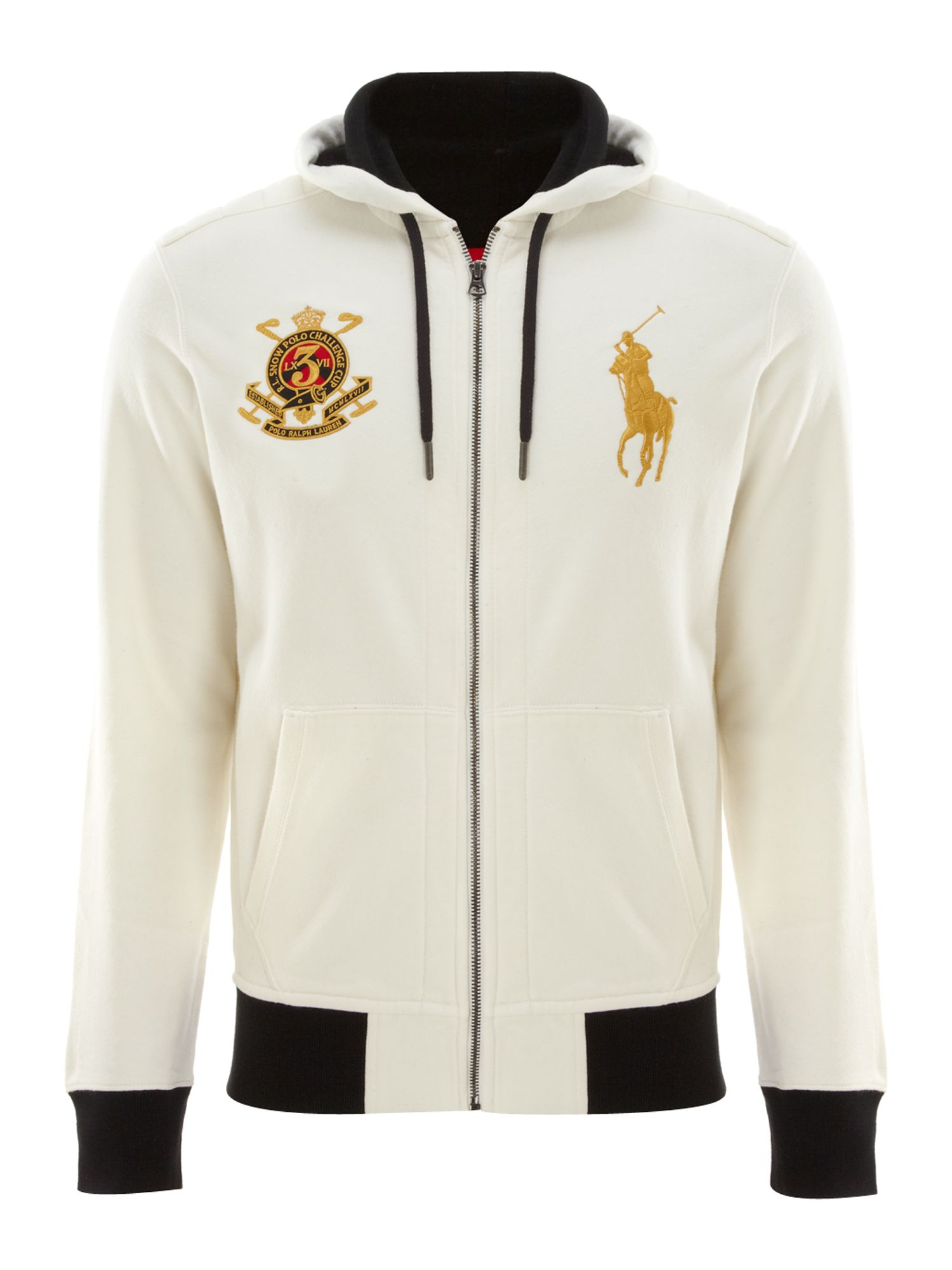 Polo ralph lauren Gold Big Pony Sweater in White for Men | Lyst
