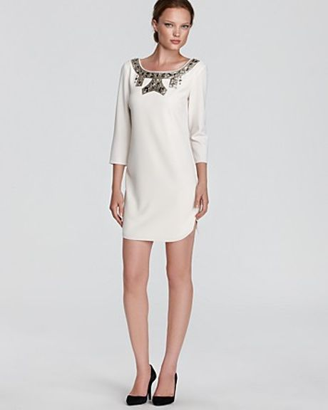 Sachin & Babi Dress Blanc with Sequin Detail in White (vanilla) - Lyst