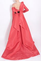Carolina Herrera Haute Pink Silk Faille Ball Gown in Pink - Lyst