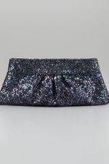 Lauren Merkin Eve Snapframe Glitter Clutch Bag Twilight - Lyst
