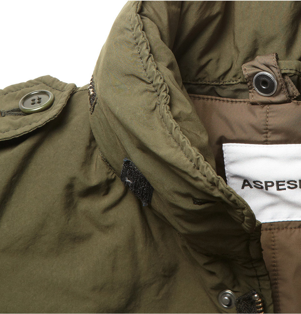 Aspesi Field Jacket With Detachable Quilted Lining In