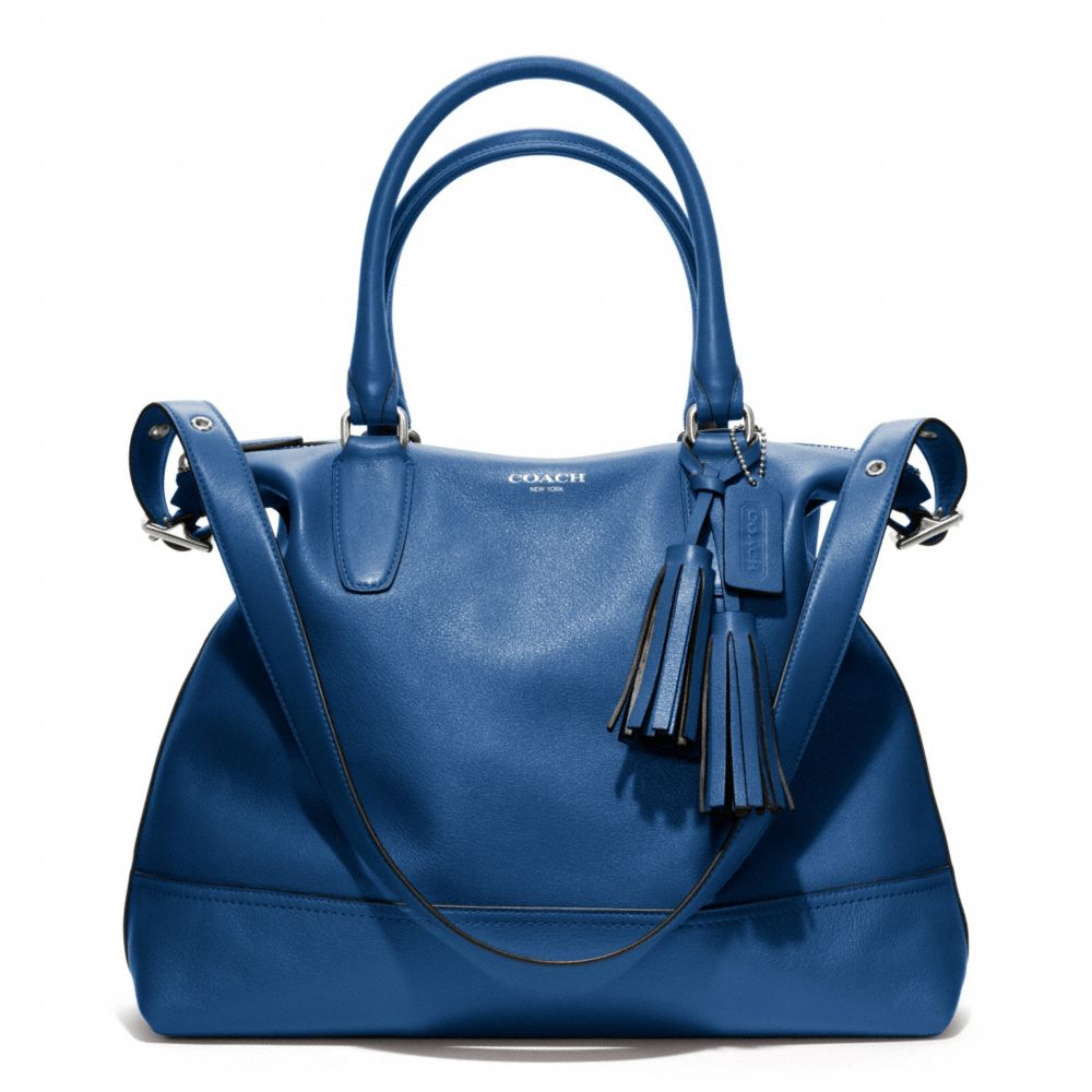 Lyst - COACH Legacy Leather Rory Satchel in Blue c5c13c791c169