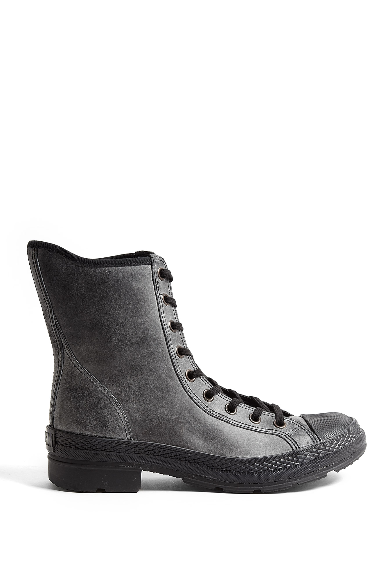 converse black dusty suede chuck boots in black lyst