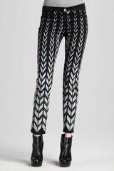 Current/Elliott The Ankle Chevronprint Skinny Jeans - Lyst