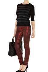 Karen Millen Stripe Sequin Knit Jumper - Lyst