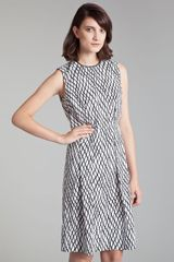 Marni Lattice Print Poplin Dress - Lyst