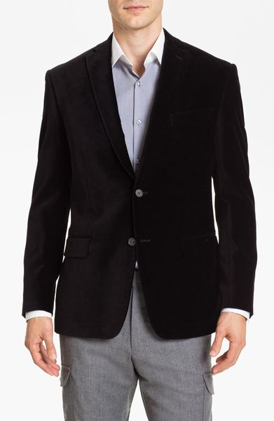 Michael Kors Trim Fit Velvet Blazer in Black for Men - Lyst