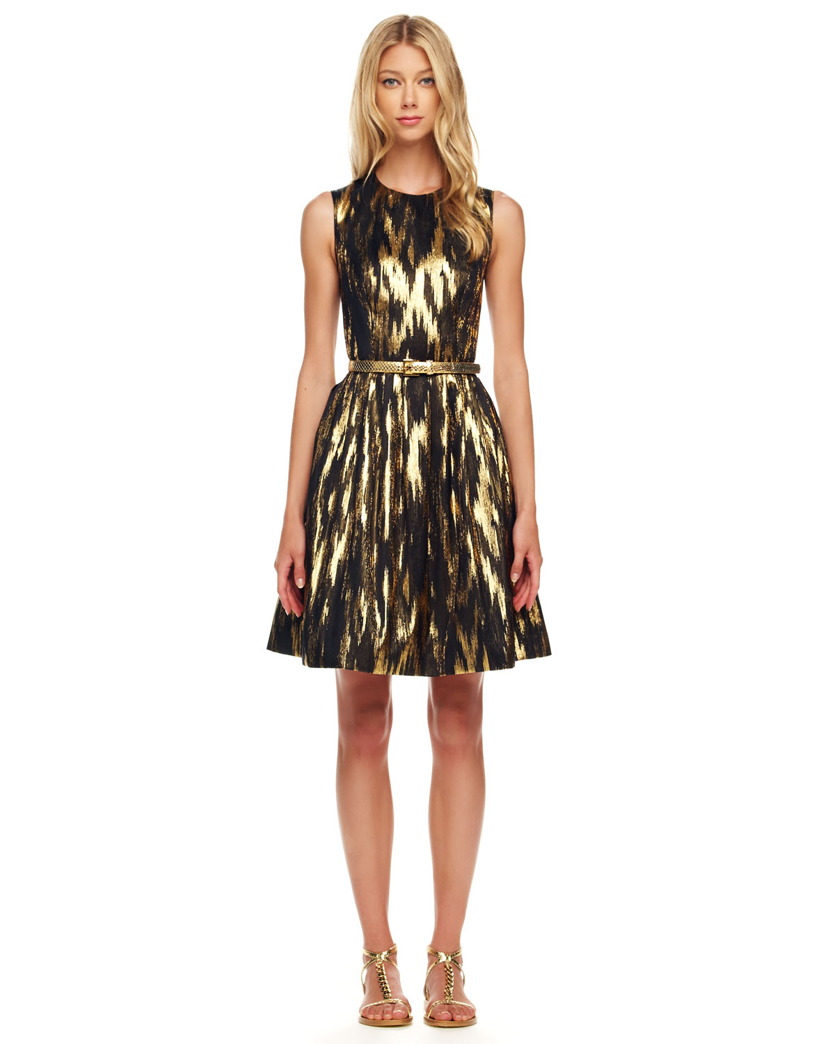 Wonderful Michael Kors Sequined Wrap Dress In Black | Lyst