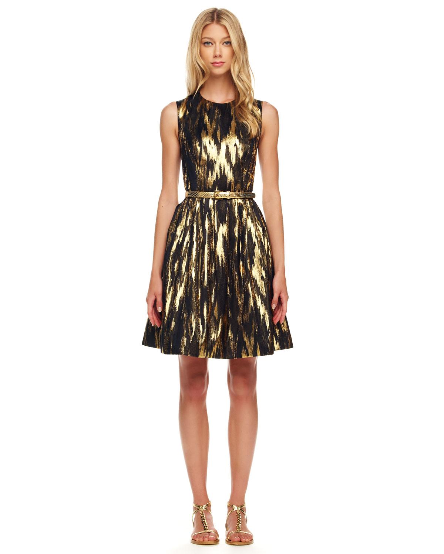 Wonderful Michael Kors Sequined Wrap Dress In Black | Lyst