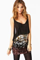 Nasty Gal Dripping in Sequins Skirt - Lyst