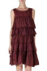 Nina Ricci Sleeveless Ruffle Tier Dress - Lyst