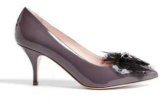 RED Valentino Grey Pointed Toe Patent Leather Stilettos - Lyst