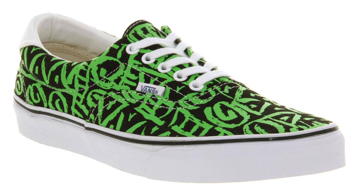 Vans Era 59 Black Green Van Doren Tribal in Green for Men - Lyst 441a0a94d069