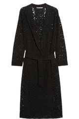 Alessandra Rich Macramé Lace Trench Coat - Lyst