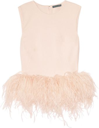 Alexander McQueen Silkcady and Feather Top - Lyst