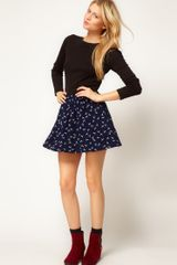 ASOS Collection Asos Skater Skirt in Dragonfly Print - Lyst