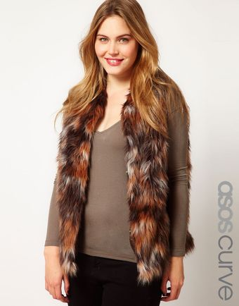 Asos Curve Exclusive Fur Gilet - Lyst