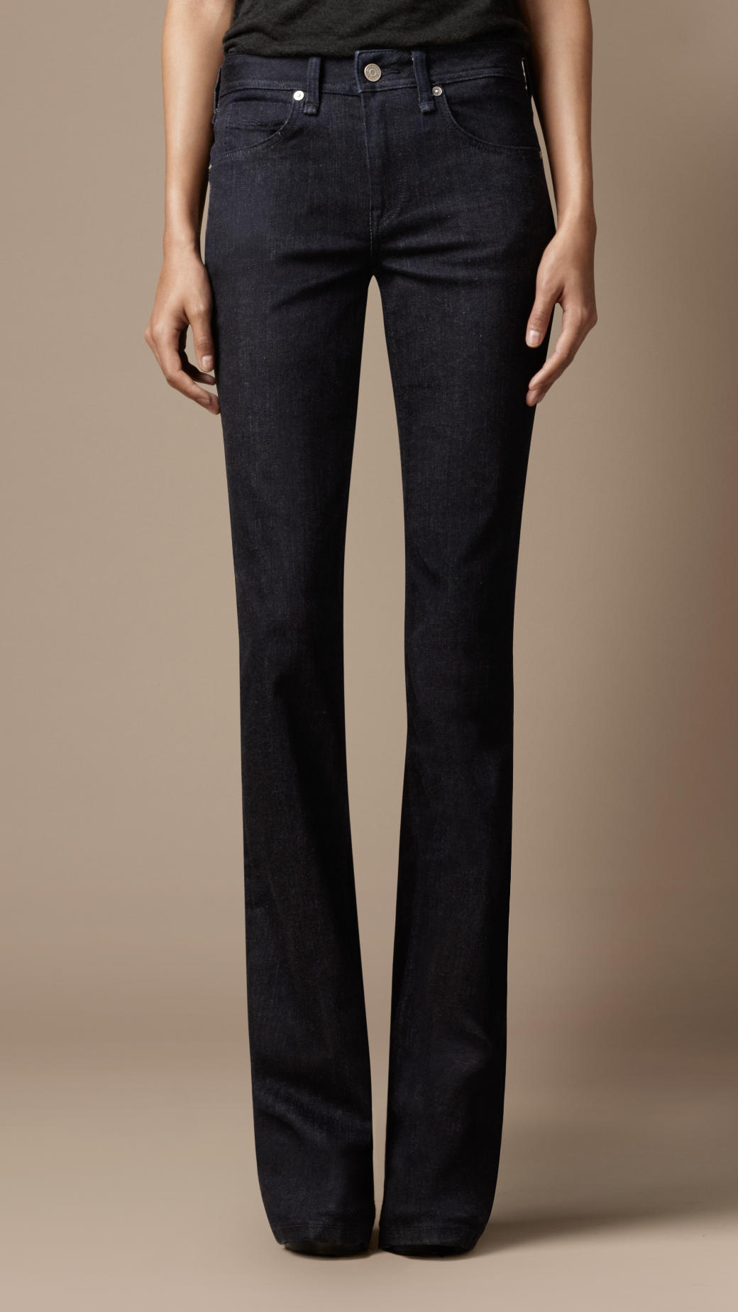 Burberry Chelsea Indigo Bootcut Jeans in Blue | Lyst